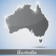 shiny icon in form of Australia