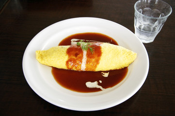 Omelet with Tomato Sauce