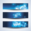 Set of horizontal Christmas or New Year banners