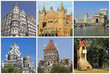 collage with landmarks  of Mumbai city ( formerly Bombay)
