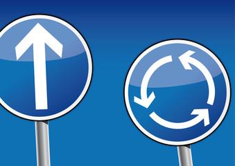 Kreisverkehr Schild, Kreislauf, auswählen, Möglichkeiten