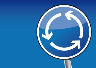 Kreisverkehr Schild, Kreislauf