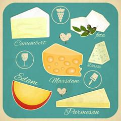 Vintage Set of Cheese