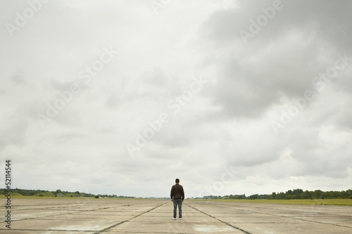Man on runway