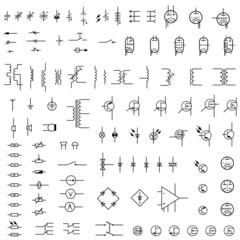 Set of icons of electronics.
