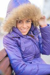 Beautiful Young Woman In Winter Coat