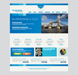 Website template for corporate business and cloud purposes