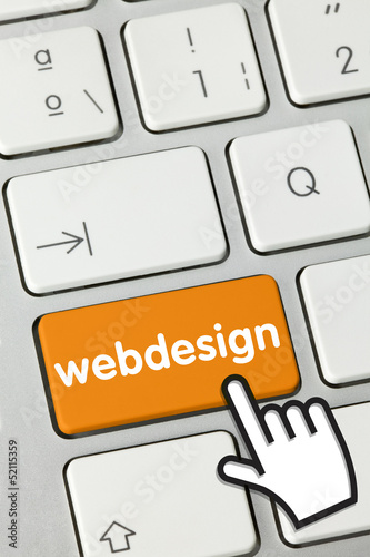 Webdesign tastatur finger