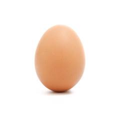 An egg isolated on white background