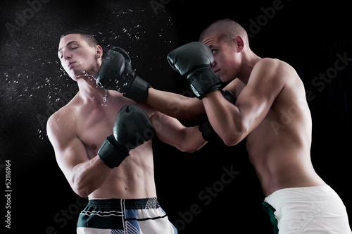 Two man boxing