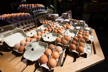 Eggs at market