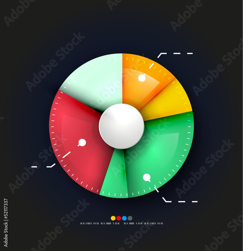 Radial diagram design template