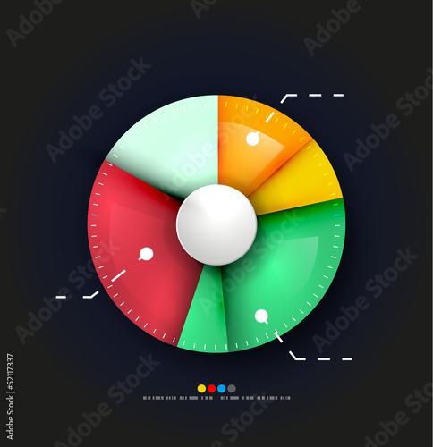 Radial diagram design template