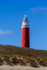 Texel Lighthouse against blue sky