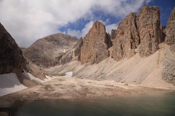 Antermoia lake Dolomites Italy