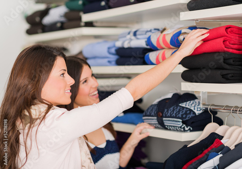 Two Women Buying Shirt