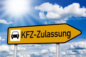 Schild mit KFZ-Zulassung