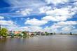 beautiful sky over Zaanse Schans, Holland