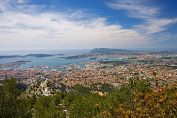 panorama of toulon, france