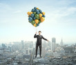 Businessman Flying