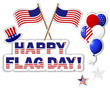 American Flag Day stickers.