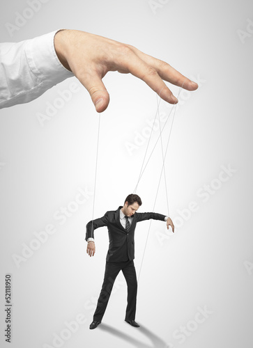 Businessman marionette