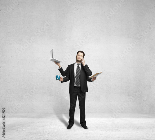 businessman with four arms