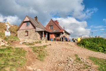 Mountain shelter in the Bieszczady Mountains