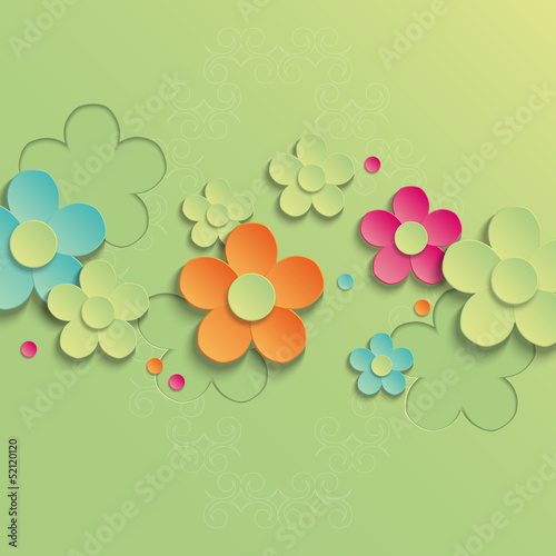 Colorful floral background. Vector illustration
