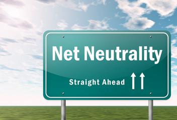 "Highway Signpost ""Net Neutrality"""