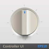Control knob regulator vector illustration poster