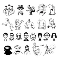 Characters professions people collection