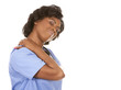 nurse having a neck pain