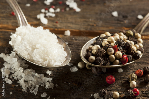 Raw Organic Sea Salt and Pepper