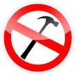 Sinal - Proibido utilizar martelo