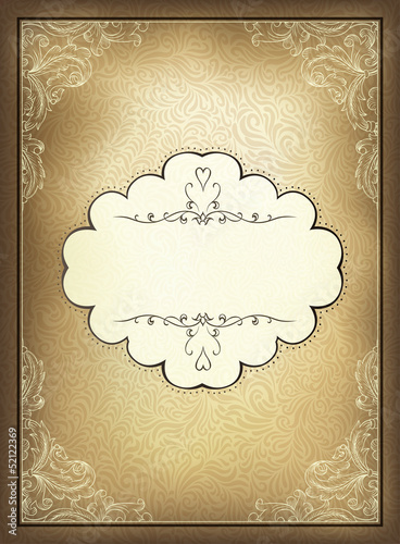 Vintage background. Vector