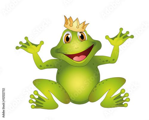 vektor frosch mit krone