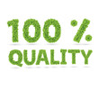 100% quality text of green vector leaves