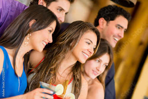 Group of friends at the bar