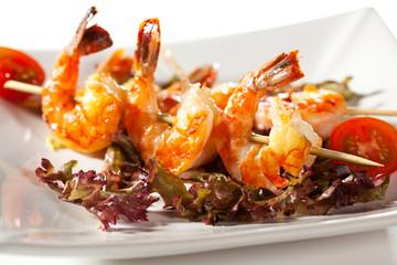 Skewered Shrimps