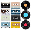 music audio tape vynil vinyl vintage