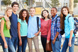 Group Of Teenage Pupils Outsid...