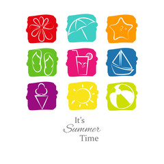 Summer Background - icons