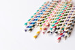 Paper Straws in Many Colors Isolated Background - 52127711
