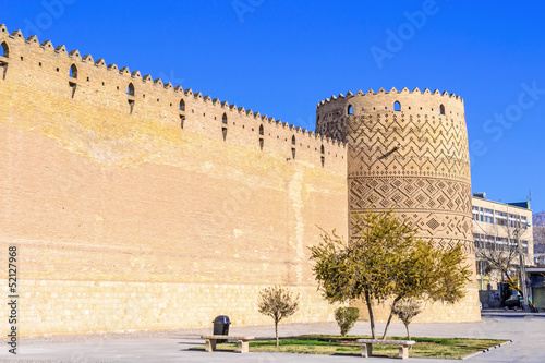The Persian citadel of Karim Khan castle in Shiraz, Iran.