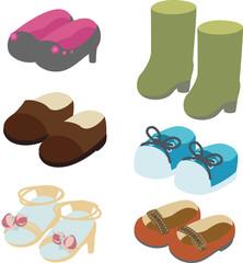 いろいろな靴