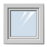 vector white plastic window