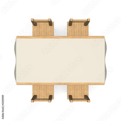 WoodenDiningTableTopView