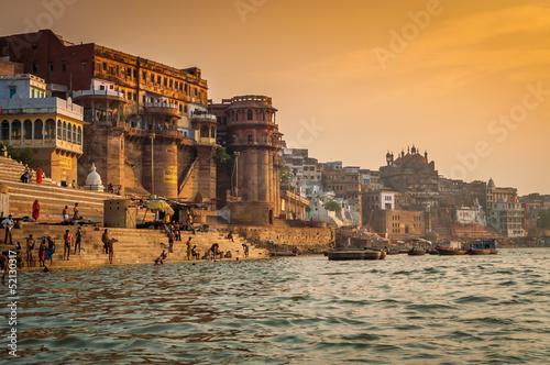 Fotobehang Nepal Varanasi Morning at Ganga River