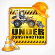 Under construction sign square, Under construction sign square